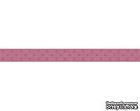 Лента в горошек BoBunny - Raspberry Double Dot, ширина 1 см, длина 90 см