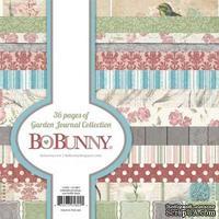 Набор двусторонней бумаги BoBunny - Garden Journal - Paper Pad, размер 15х15 см, 36 листов