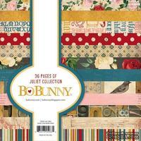 Набор двусторонней бумаги BoBunny - Collection Juliet - Paper Pad, размер 15х15 см, 36 листов