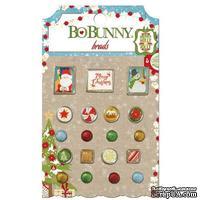Брадсы BoBunny - Dear Santa - Brads, 19 шт.
