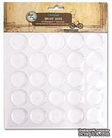 Прозрачные эпоксидные наклейки Bottle Cap - Epoxy Dots, диаметр 2,5 см, 50 штук, для изготовления объемных украшений