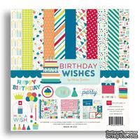 Набор бумаги от Echo Park - Birthday Wishes Boy, 12+2 листа, 30х30 см