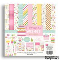 Набор бумаги от Echo park - Birthday Wishes Girl, 12+2 листа, 30х30 см