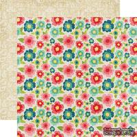 Лист двусторонней бумаги от Echo Park - Floral, 30x30 см