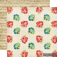 Лист двусторонней бумаги от Echo Park - Bouquets, 30x30 см
