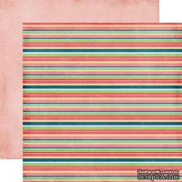Лист двусторонней бумаги от Echo Park - Stripes, 30x30 см