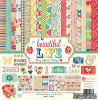 Набор бумаги и декора от Echo Park Beautiful Life Collection Kit, 30x30 см