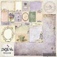 Лист скрапбумаги Blue Fern Studios - Deja Vu - Petites Cartes, двусторонняя, 30х30 см