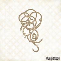 Чипборд Blue Fern Studios - Swirly Doodle