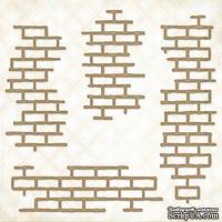 Чипборд Blue Fern Studios - Shabby Brick Bits