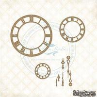 Чипборд Blue Fern Studios - Roman Clock Set - Small