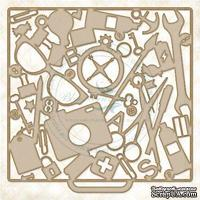 Чипборд Blue Fern Studios - Junk Drawer
