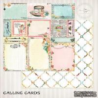 Лист скрапбумаги Blue Fern Studios - Blue Fern Montage Calling Cards, двусторонняя, 30х30 см