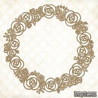 Чипборд Blue Fern Studios - Rose Wreath