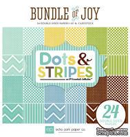 Набор двусторонней бумаги для скрапбукинга от Echo park - Dots & Stripes - Bundle of Joy - A New Addition Boy, 15х15 см