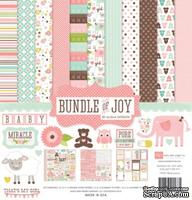Набор бумаги от Echo park - Bunble of Joy Girl - Baby Girl Collection Kit