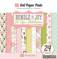 Набор двусторонней бумаги для скрапбукинга от Echo park - Bundle of Joy - A New Addition Girl, 24 листа, 15х15 см