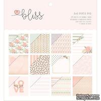 Набор бумаги My Mind's Eye - Bliss, 15x15 см, с фольгированием