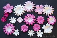 Набор цветов розового и белого оттенков, 20-50 мм, 20 шт