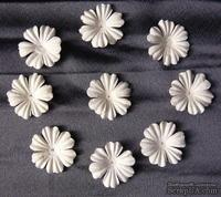 Декоративные бумажные цветочки, цвет: белый, 30 мм, 10 шт.