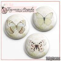 Скрап-значки от Бумага Марака - Бежевые бабочки
