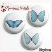 Скрап-значки от Бумага Марака - Голубые бабочки