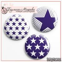 Скрап-значки от Бумага Марака - Звезды синие