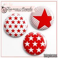 Скрап-значки от Бумага Марака - Звезды красные