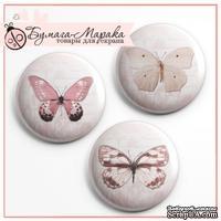 Скрап-значки от Бумага Марака - Розовые бабочки