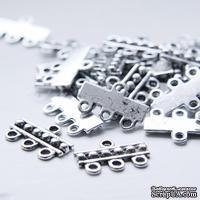 "Металлическое украшение ""Multiple Hole Bars"", размер 18x12 мм, 1 шт."