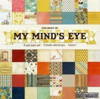 Набор двусторонней скрапбумаги My Mind's Eye - Best of My Mind's Eye, размер 30х30 см, 24 листа