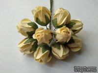 Бутоны большие дикой розы, цвет кремовый, размер бутона 2 см, 1шт.
