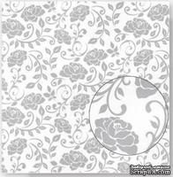 Лист плотной скрапбумаги с глиттером и тиснением - Best Creation Paper - Glitter Elegance Pleasant, 30 x 30 см - ScrapUA.com