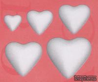 """Заготовка - фигурка  из пенопласта от BOVELACCI """"Сердце полое"""", размер 5 см, 1 шт."""