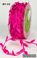 Лента LEAVES, цвет FUCHSIA, 90см  (дина листика 12 мм)