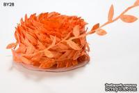 Лента LEAVES, цвет ORANGE, 90см  (дина листика 12 мм)