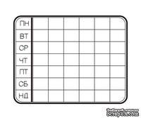 Акриловый штам  С001a Календарь, размер 6,1х4,7 см