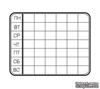 Акриловый штам  C001b Календарь, размер 6,1х4,7 см