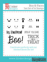 Штампы от Lil' Inker Designs - Boo & Faces Stamps