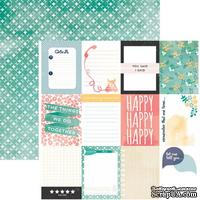 Лист скрапбумаги Carta Bella Journaling Cards, 30х30 см, двусторонняя