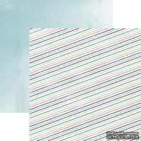 Лист скрапбумаги Carta Bella Stripes, 30х30 см, двусторонняя
