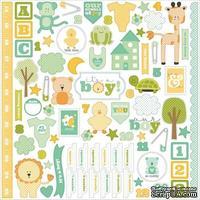 Набор наклеек Carta Bella - It's a Boy - Cardstock Stickers, размер 30х30 см