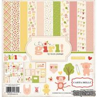 Набор скрапбумаги и декора Carta Bella - It's a Girl Collection Kit, 30х30 см