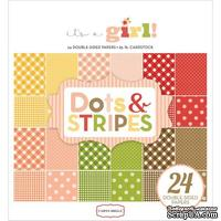 Набор скрапбумаги Carta Bella - It's a Girl -Dots and Stripes, 15х15 см