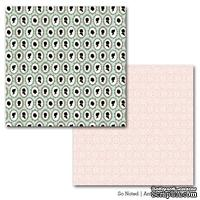 Лист двусторонней бумаги Carta Bella So Noted - Antique Silhouettes, размер 30х30 см