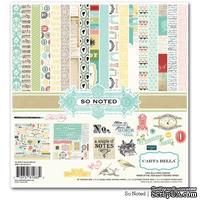 Набор двусторонней бумаги и декора Carta Bella So Noted - Collection Kit, размер 30х30 см