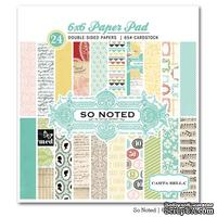 Набор двусторонней бумаги Carta Bella So Noted - Paper Pad, размер 15х15 см