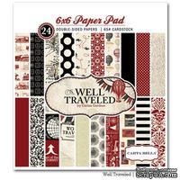 Набор двусторонней бумаги Carta Bella Well Travelled - Paper Pad, размер 15х15 см