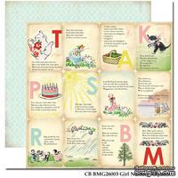 Лист двусторонней скрапбумаги Carta Bella - Girl Nursery Rhymes, 30х30 см