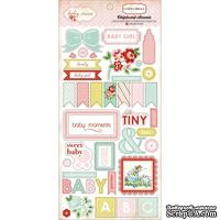 Высечки из чипборда Carta Bella - Baby Mine Girl Chipboard Accents